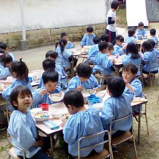 参観日・給食試食会 写真